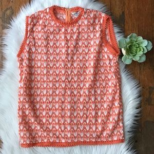 VINTAGE 1979s Acrylic Woven Knit Creamsicle Tank